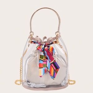 24Hr Sale✨Transparent Crossbody Bag w/ inner pouch